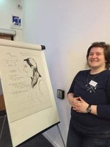 Jules Valera's drawing of Sarah Hildebrand